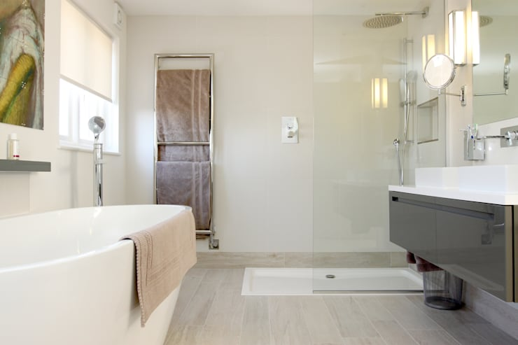 Cricklewood Interior Design Project: modern Bathroom by Primrose Interiors
