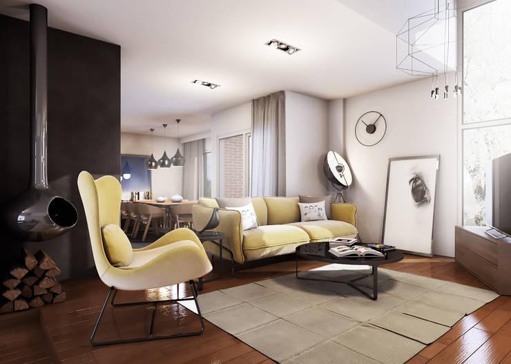 salon: Comedores de estilo minimalista de 2vsarq