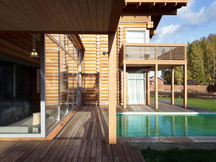 Locomotion-1: Бассейн в . Автор – NEWOOD - Современные деревянные дома