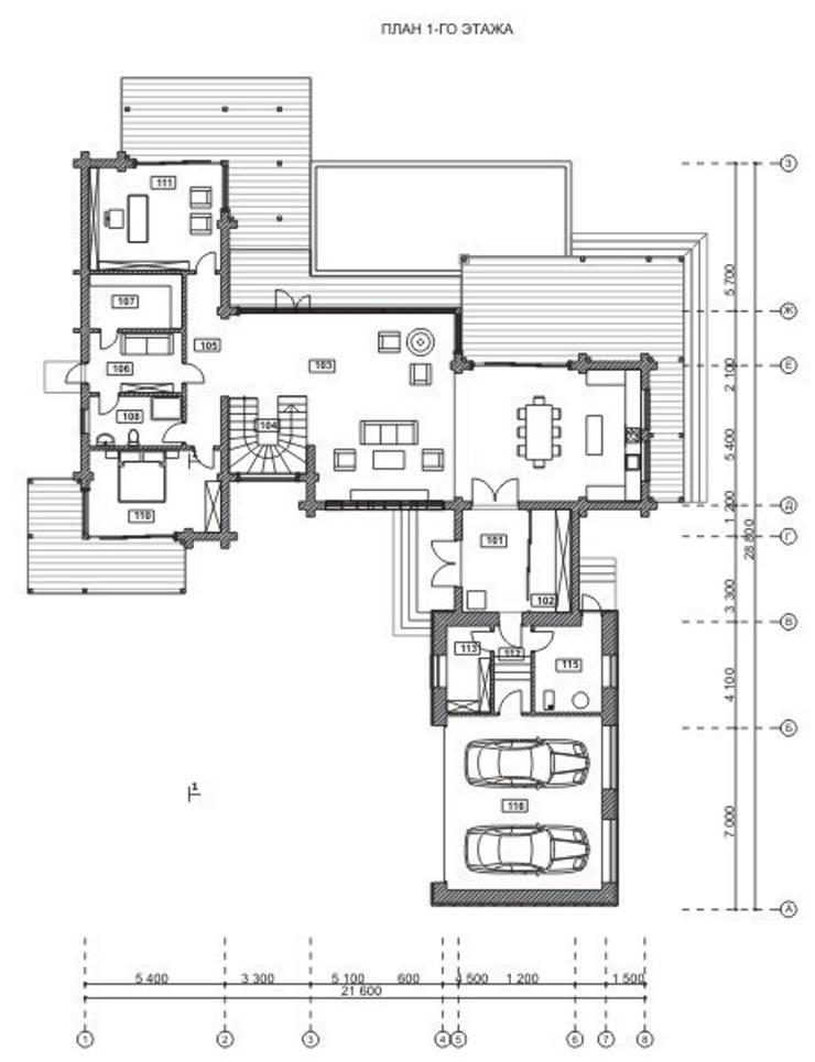 Locomotion-1:  в . Автор – NEWOOD - Современные деревянные дома