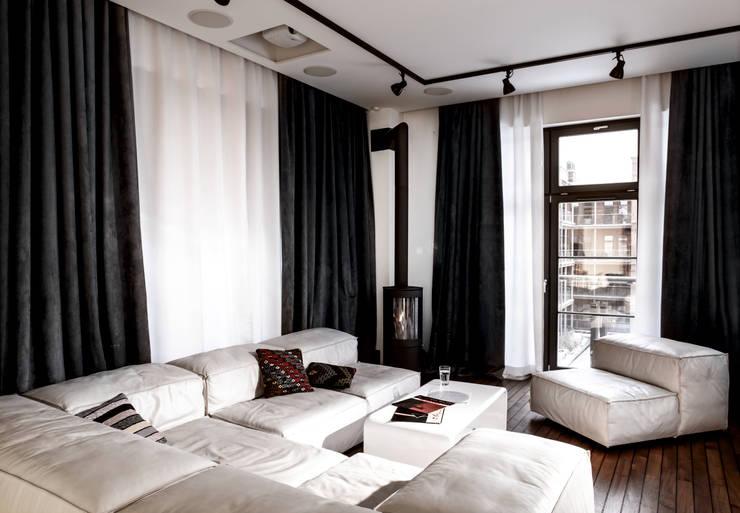 Apartament City Park Poznań: styl , w kategorii Salon zaprojektowany przez Ostańska design,Nowoczesny