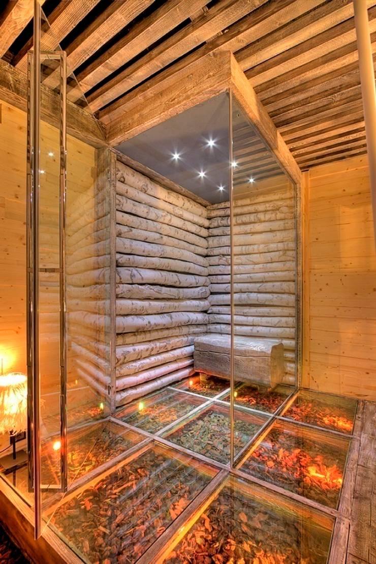 prywatny apartament w Megeve, Francja: styl , w kategorii Spa zaprojektowany przez Bosc Vej s.r.l.,