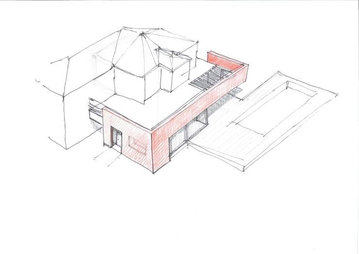 Ampliamento Villa e nuova Piscina:  in stile  di Studio di Architettura Fiorentini Associati