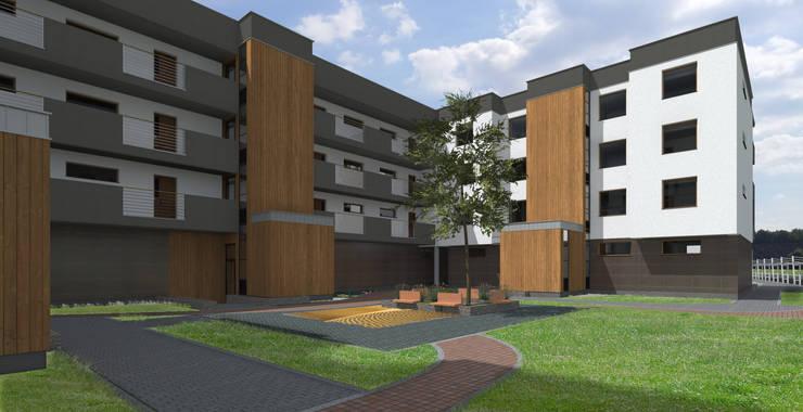 Osiedle mieszkanioowe w Bytomiu: styl , w kategorii Domy zaprojektowany przez ABC Pracownia Projektowa Bożena Nosiła,