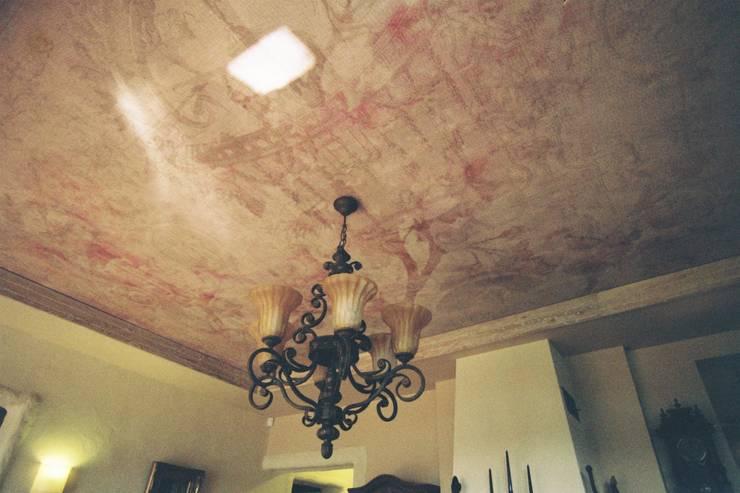 sufit w salonie: styl , w kategorii Salon zaprojektowany przez projektowanie wnętrz,