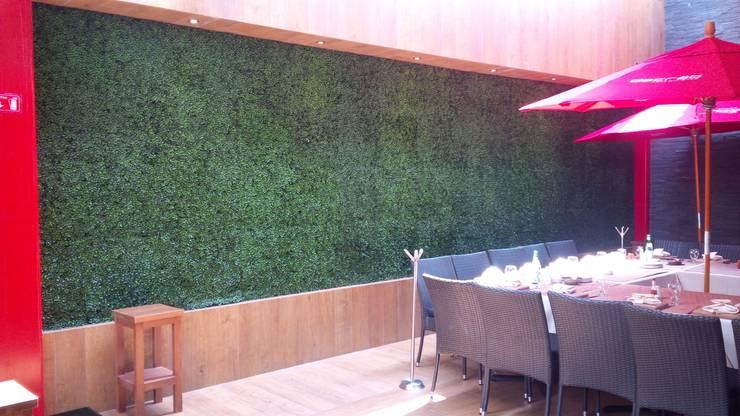 Terraza: Oficinas y tiendas de estilo  por GreenSmart