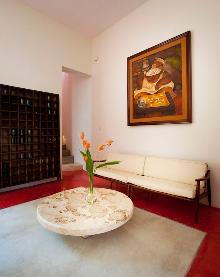 Casa Santiago 49: Salas de estilo  por Taller Estilo Arquitectura