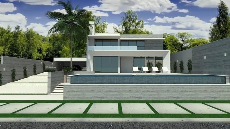 Residência em Cacupé - Florianópolis: Casas  por Cláudia de Andrade Arquitetura