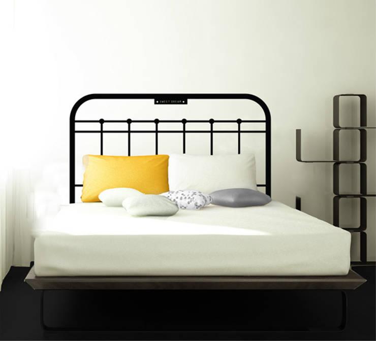 모던침대헤드보드1: 인그리고(ingrigo)의  침실