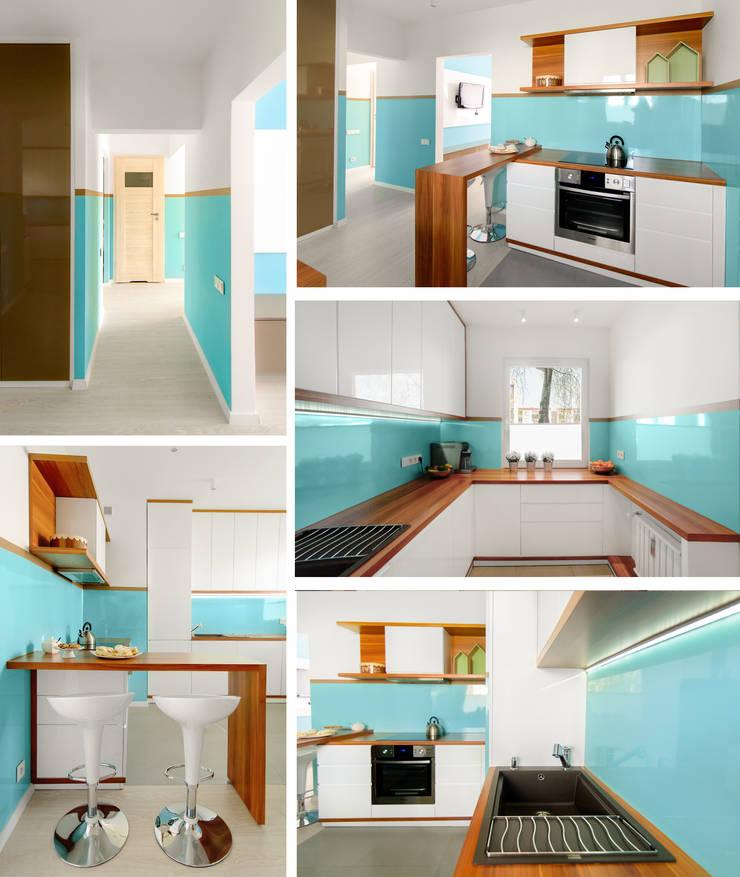 Mieszkanie prywatne – Ruda Śląska.: styl , w kategorii Kuchnia zaprojektowany przez PR Architects Sp z o. o. Pala&Rodek