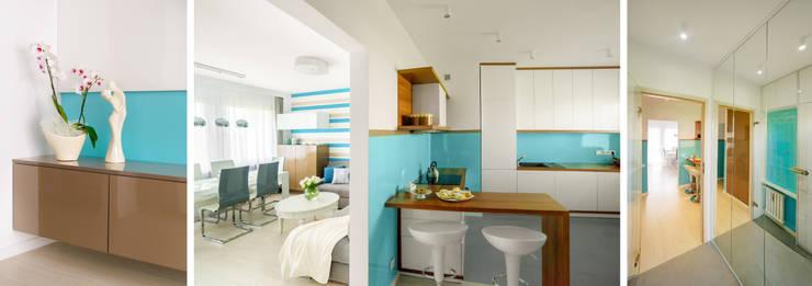 Mieszkanie prywatne – Ruda Śląska.: styl , w kategorii Salon zaprojektowany przez PR Architects Sp z o. o. Pala&Rodek