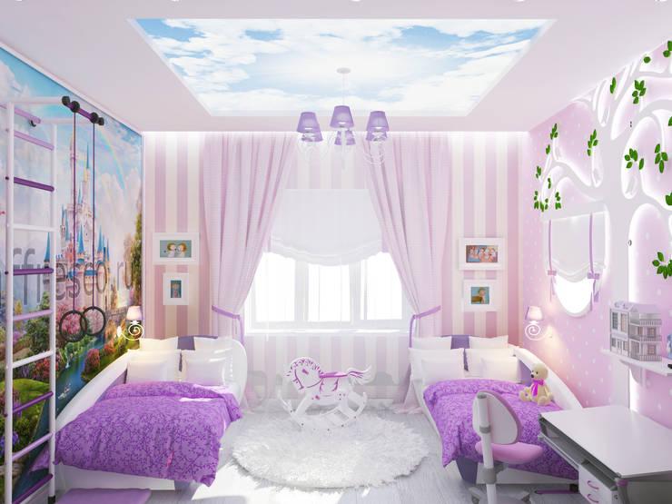 Спальня для маленьких принцесс: Детские комнаты в . Автор – mysoul