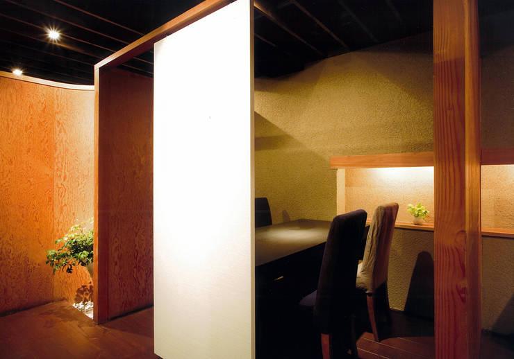 2階ボックス席: 堀内総合計画事務所が手掛けたレストランです。