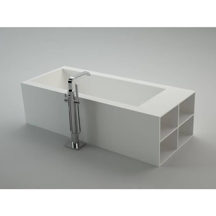 Bañera Corian® Isla Mueble LA.: Baños de estilo  de Baños de Autor