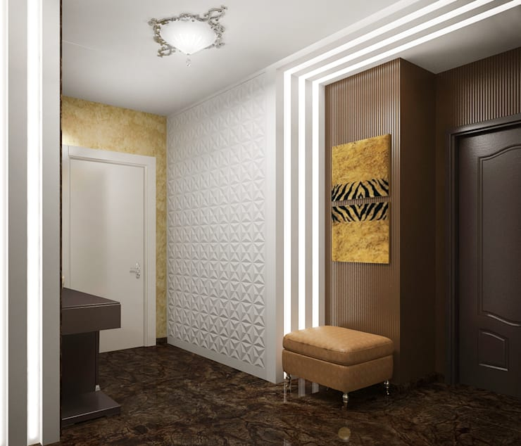 Квартира в Ялте: Коридор и прихожая в . Автор – Дизайн - студия Пейковых
