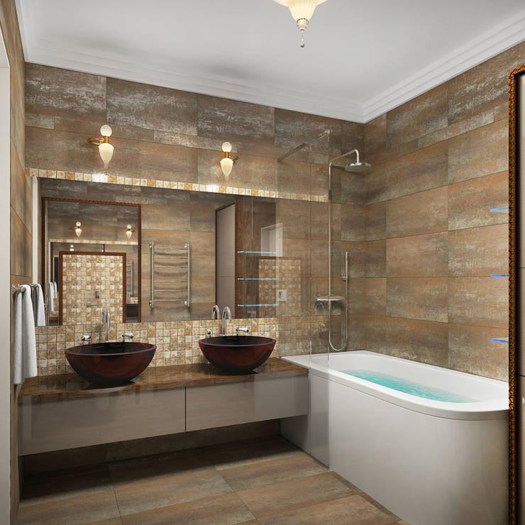 Квартира в Ялте: Ванные комнаты в . Автор – Дизайн - студия Пейковых