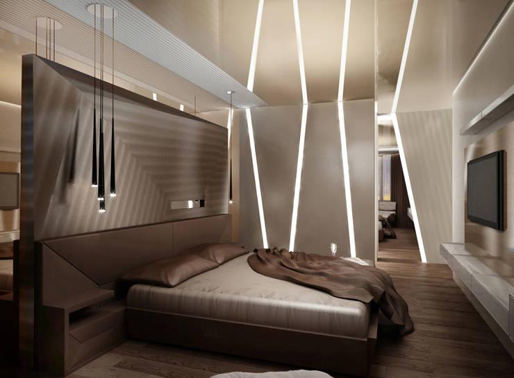 Квартира в Москве: Спальни в . Автор – Дизайн - студия Пейковых