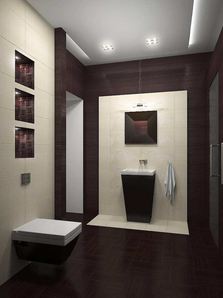 Квартира в Праге: Ванные комнаты в . Автор – Дизайн - студия Пейковых