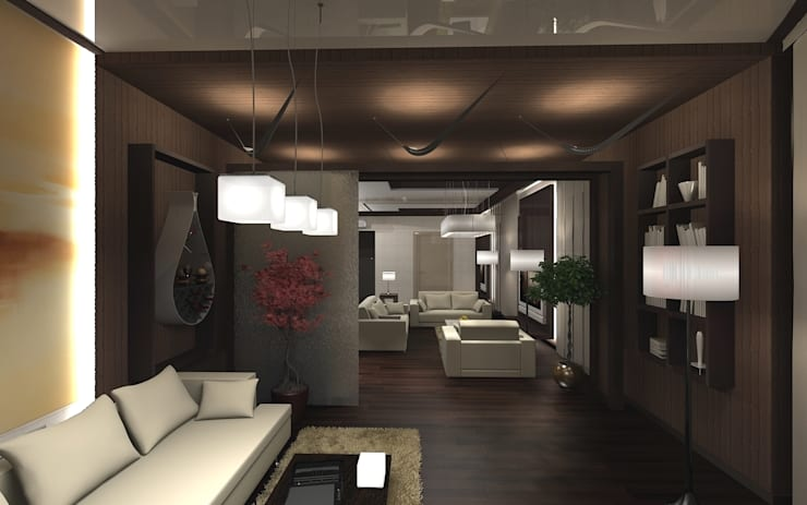 Квартира в Праге: Гостиная в . Автор – Дизайн - студия Пейковых