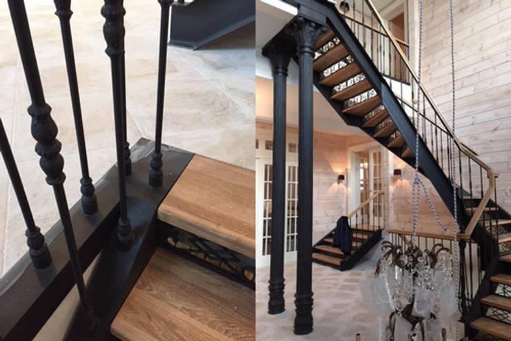 Изящная лестница в доме: Коридор и прихожая в . Автор – Дизайн студия Ольги Кондратовой