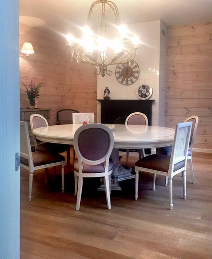 Фото готового интерьера столовой: Столовые комнаты в . Автор – Дизайн студия Ольги Кондратовой