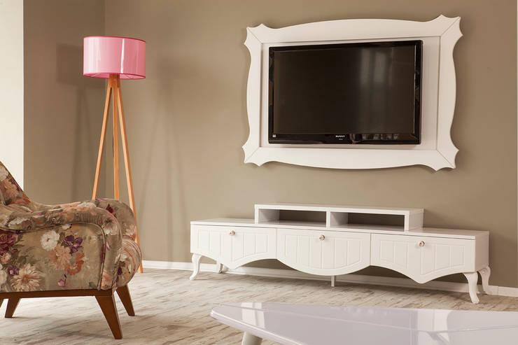 Sanal Mobilya – Stil Country TV Ünitesi: modern tarz Oturma Odası