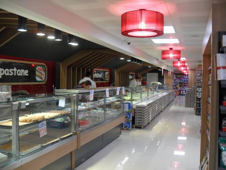 Darya Mimarlık Proje Hizmetleri İnş.Sa.Tic.Ltd.Şti. – Özpolatoğlu Marketleri:  tarz Ofisler ve Mağazalar, Modern