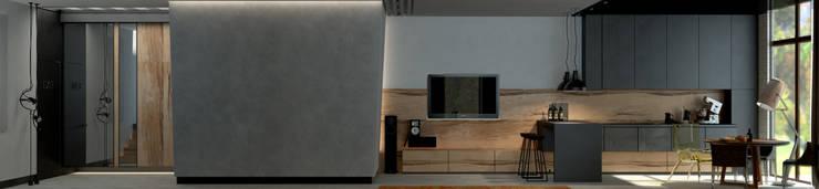 Коттедж в Подмосковье: Гостиная в . Автор – Дизайн - студия Пейковых