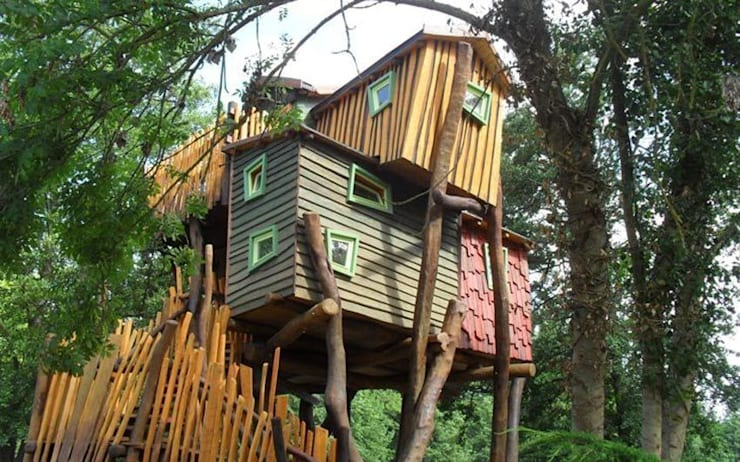 Bijzondere boomhut overnachting bij Kulturinsel in Duitsland:  Hotels door TreeGo Boomhut Bouwers