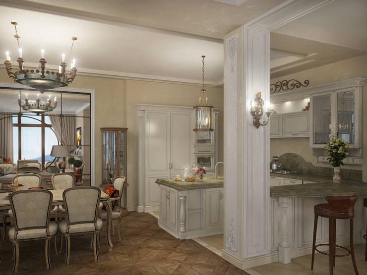 Коттедж в Форосе: Кухни в . Автор – Дизайн - студия Пейковых