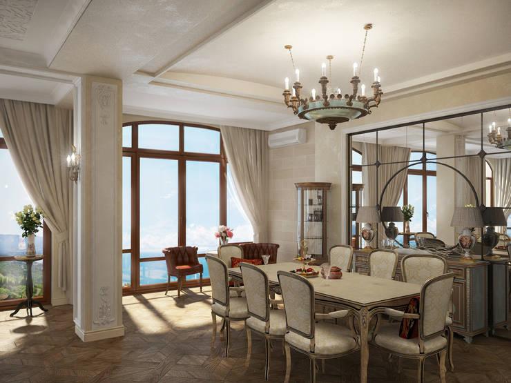 Коттедж в Форосе: Гостиная в . Автор – Дизайн - студия Пейковых