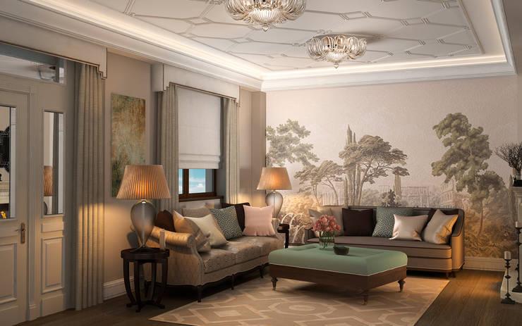 Living room by Дизайн - студия Пейковых
