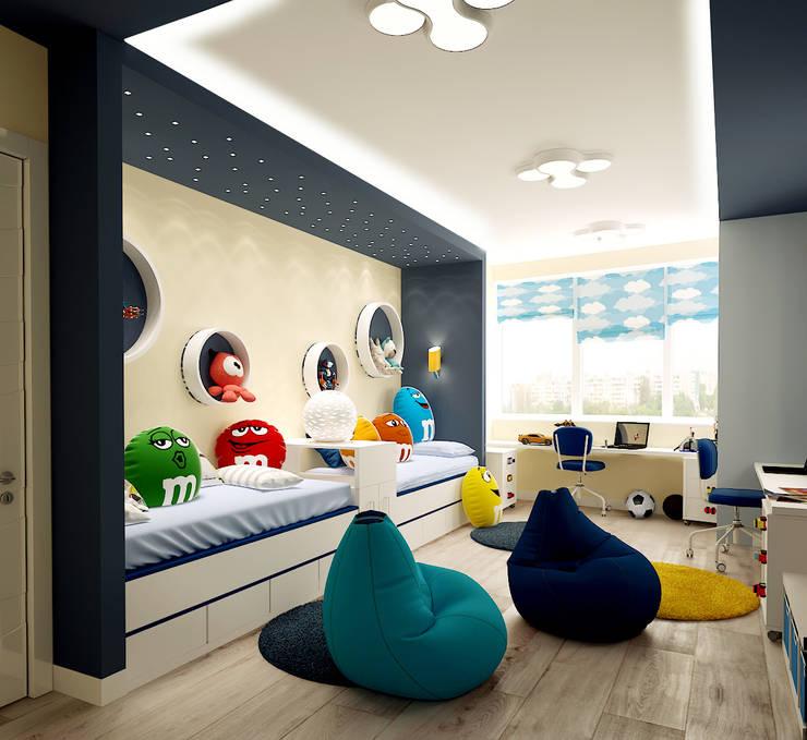 Квартира на Кутузова: Детские комнаты в . Автор – ООО 'Студио-ТА'