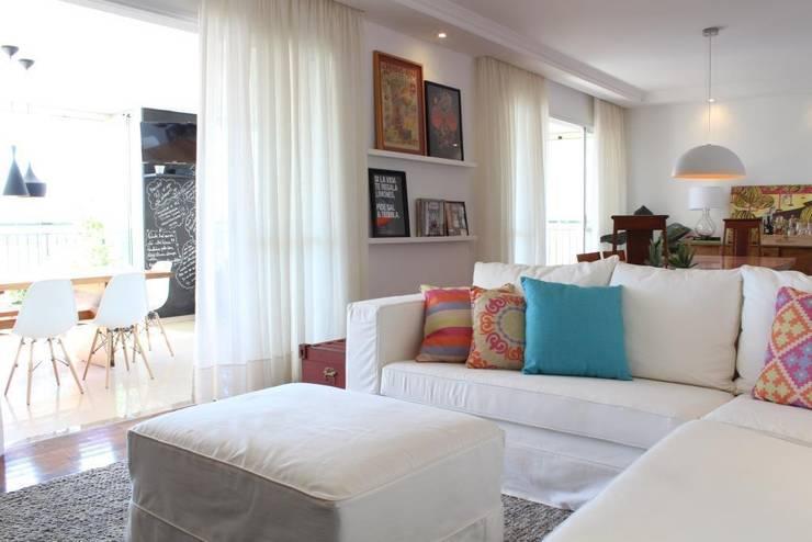 Ap Brooklin 03: Salas de estar modernas por Mariana Dias Arquitetura