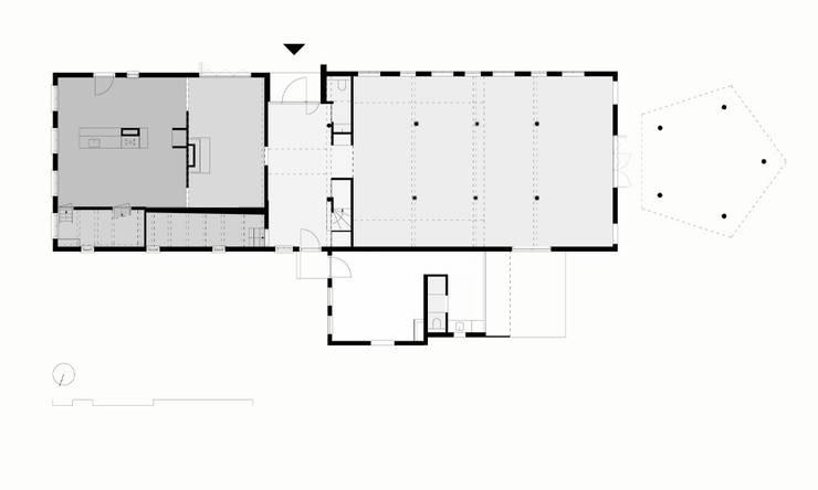 Begane grond:   door Bos in 't Veld Architecten