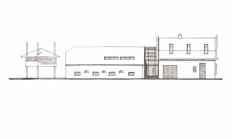 Linkerzijgevel:   door Bos in 't Veld Architecten