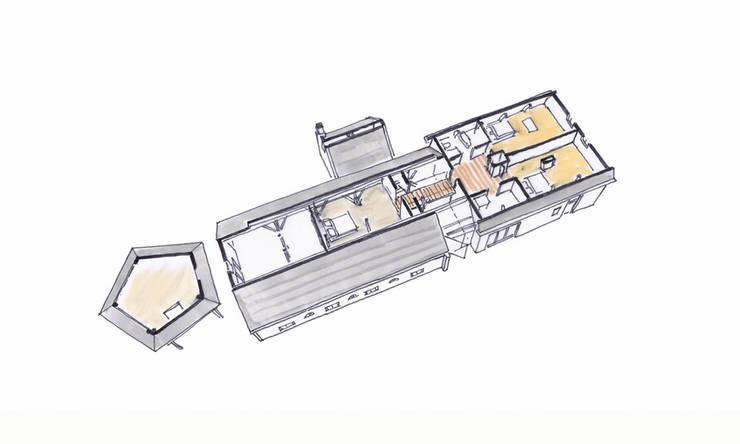 Ruimtelijk model verdieping:   door Bos in 't Veld Architecten