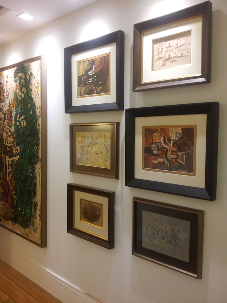 Hall de entrada: Salas de estar  por Ana Adriano Design de Interiores,Eclético