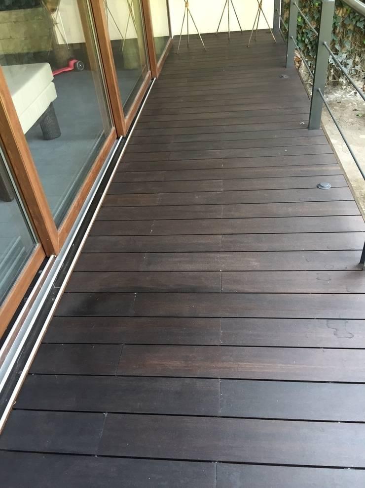 Bosques de las Lomas: Terrazas de estilo  por Shimada Flooring