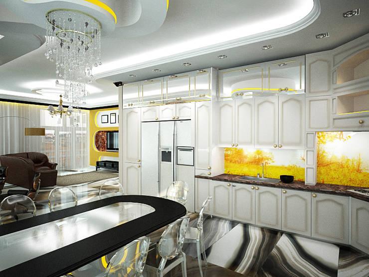 Шик 2: Кухни в . Автор – Дизайн студия Александра Скирды ВЕРСАЛЬПРОЕКТ, Эклектичный