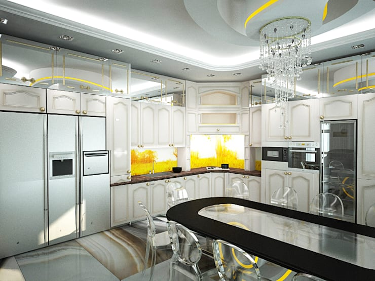 Шик 2: Кухни в . Автор – Дизайн студия Александра Скирды ВЕРСАЛЬПРОЕКТ