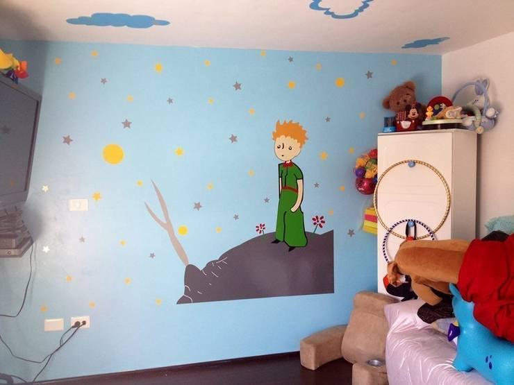Vinil del principito : Habitaciones infantiles de estilo  por Arándano Decoraciòn
