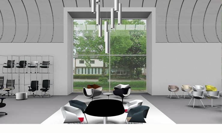Dauphin showroom:   door Bos in 't Veld Architecten, Minimalistisch