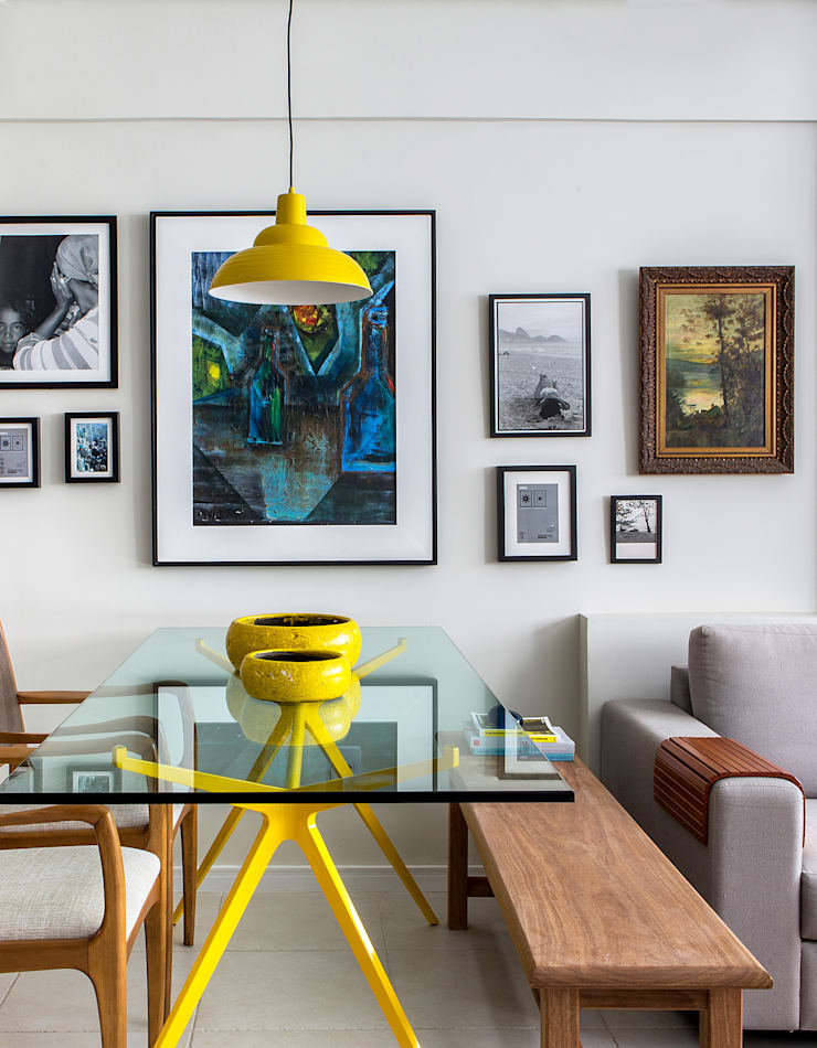 Sala de Jantar integrada ao Estar e a Cozinha: Salas de jantar  por Bruno Sgrillo Arquitetura,