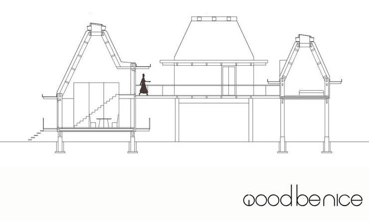 WOODBENICE:   door Bos in 't Veld Architecten, Tropisch