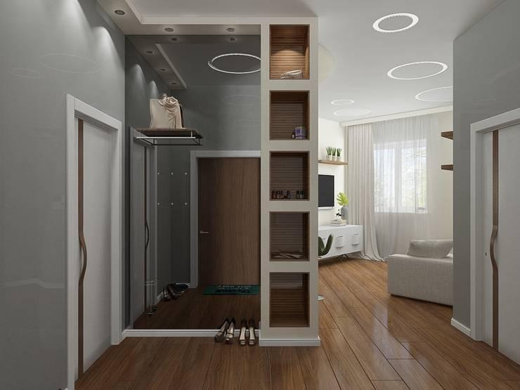 Квартира в ЖК <q>Атлетик Хаус</q>: Коридор и прихожая в . Автор – EEDS дизайн студия Евгении Ермолаевой,