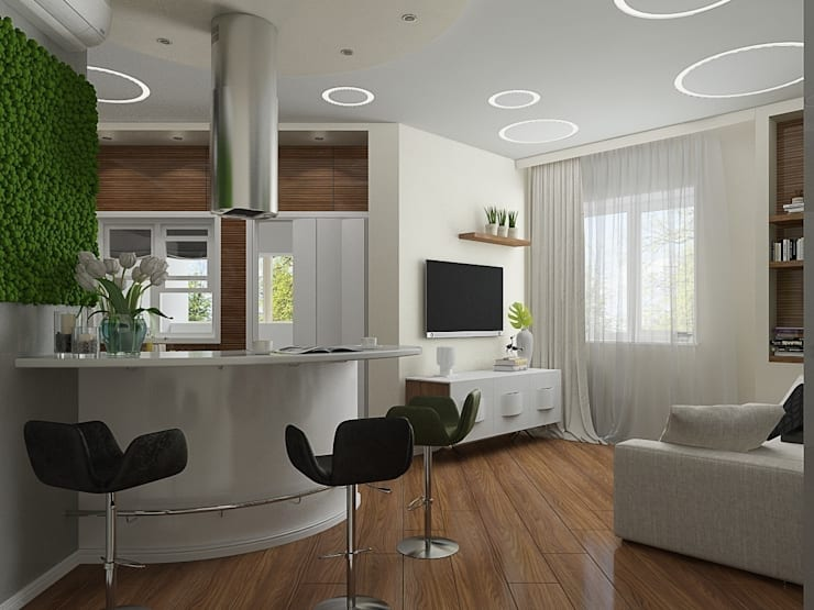 """Квартира в ЖК """"Атлетик Хаус"""": Гостиная в . Автор – EEDS design"""