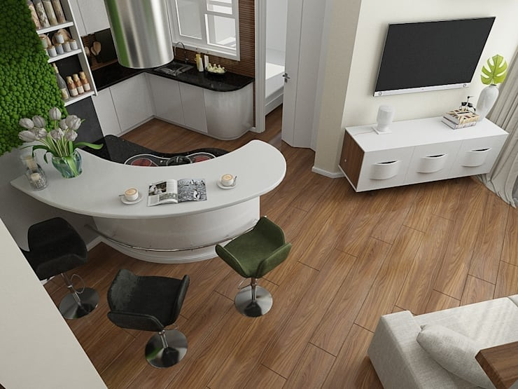 Квартира в ЖК <q>Атлетик Хаус</q>: Кухни в . Автор – EEDS дизайн студия Евгении Ермолаевой,
