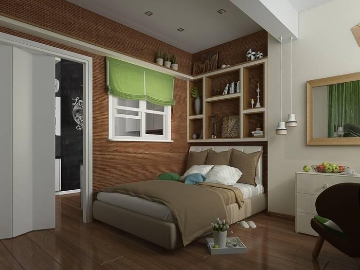 Квартира в ЖК <q>Атлетик Хаус</q>: Спальни в . Автор – EEDS дизайн студия Евгении Ермолаевой,