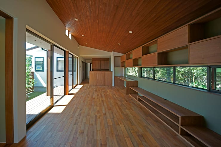SMOOTH HOUSE: 株式会社プラスディー設計室が手掛けたリビングです。